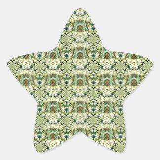 Green Digital Abstract Pattern Art Sticker
