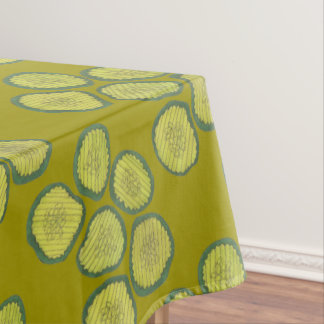 Green Dill Pickles Sweet Pickle Chips Foodie Print Tablecloth
