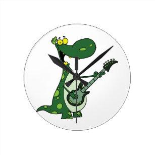Acoustic Guitar Wall Clocks Zazzle Com Au