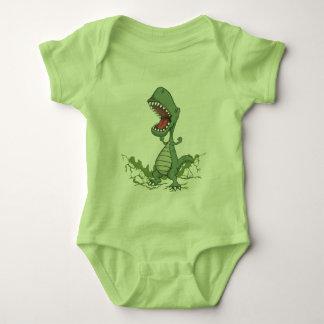 Green Dinosaur Baby Bodysuit