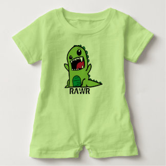 Green Dinosaur baby outfit Baby Bodysuit