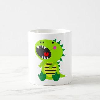 Green Dinosaur RAWR Coffee Mugs
