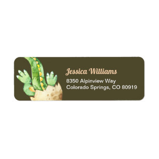 Green Dinosaur Return Address Label