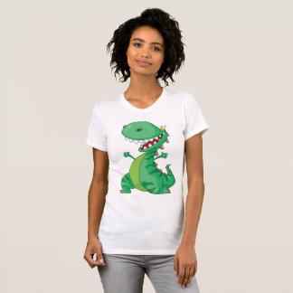 Green Dinosaur Womens T-Shirt