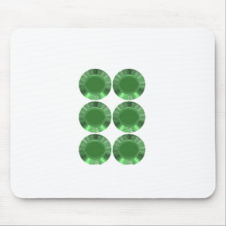 GREEN DISKS - MOUSE PADS