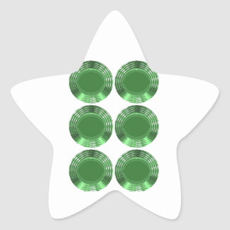 GREEN DISKS - STICKER