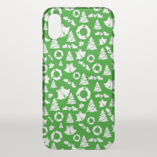 Green Ditzy Christmas Characters | iPhone X Case