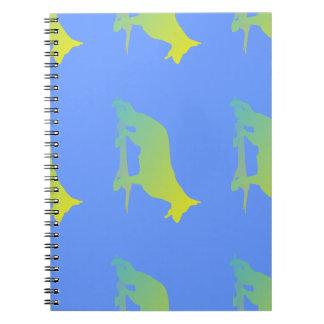 Green Dog Spiral Notebook