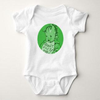"Green ""Don't Kiss Me"" Retro Vintage Baby Bodysuit"