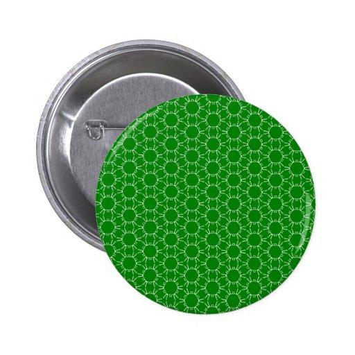 Green Doodle Pattern Pinback Button