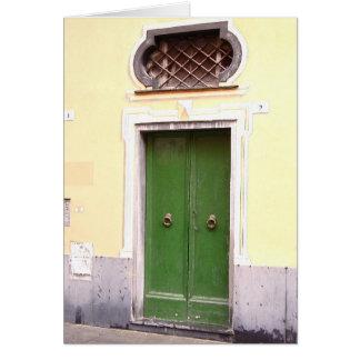 Green Door Card