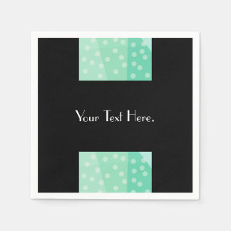 Green Dots and Spots Paper Napkins
