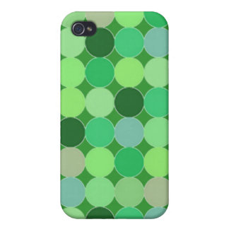 Green dots Case Covers For iPhone 4