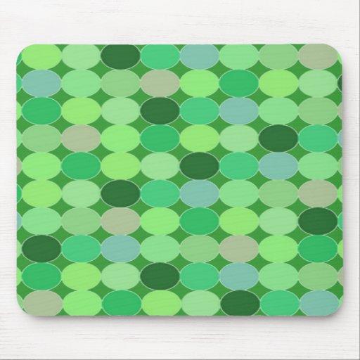 Green dots Mousepad