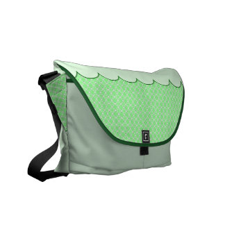 Green Dots Pattern Commuter Bag
