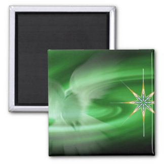 Green Dove & North Star Magnet