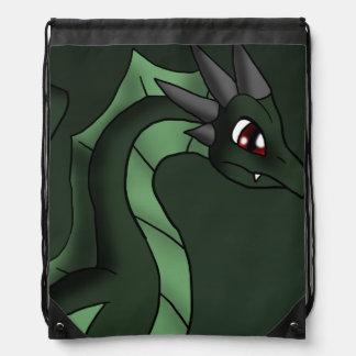 Green Dragon 6-7-13 Fantasy Cartoon Art Rucksacks
