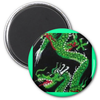 Green Dragon 6 Cm Round Magnet