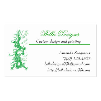 Green Dragon Business Cards