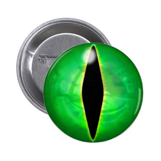 Green Dragon Eye 6 Cm Round Badge