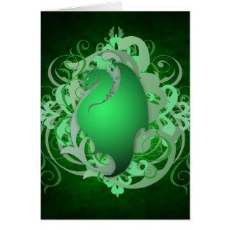 Green Dragon Fantasy Card