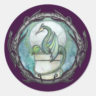 Green Dragon Gothic Fantasy Art Stickers