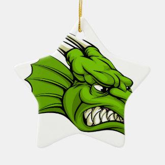 Green dragon mascot ornament