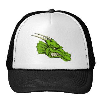 Green dragon mascot trucker hat