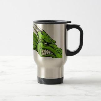 Green dragon mascot mug