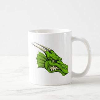 Green dragon mascot coffee mugs