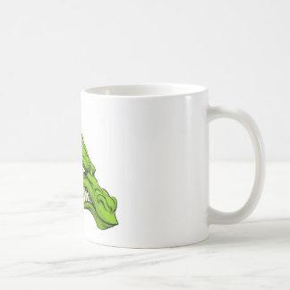 Green dragon mascot coffee mug