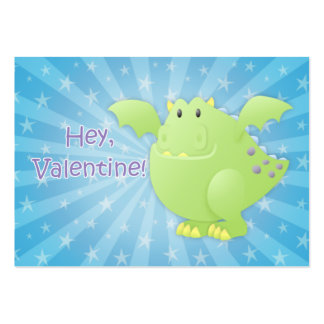 Green Dragon Monster Valentine Cards Pack Of Chubby Business Cards