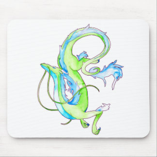 Green Dragon Mouse Pad