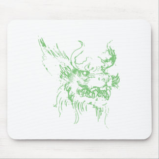 Green Dragon Mouse Pad