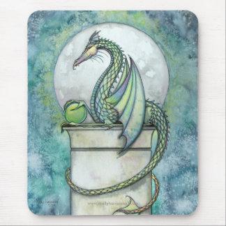 Green Dragon Mousepad by Molly Harrison