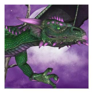 Green Dragon Personalized Invite