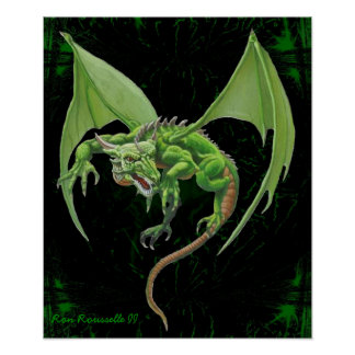 Green Dragon Print
