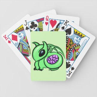 Green Dragon, Purple Dragon Egg Bicycle Playing Cards