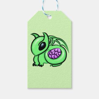Green Dragon, Purple Dragon Egg Gift Tags