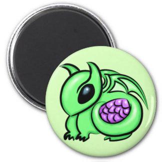 Green Dragon, Purple Dragon Egg Magnet
