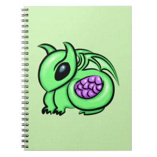 Green Dragon, Purple Dragon Egg Notebook