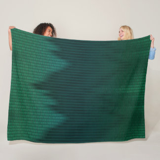 Green Dragon Satin Scales Pattern Fleece Blanket