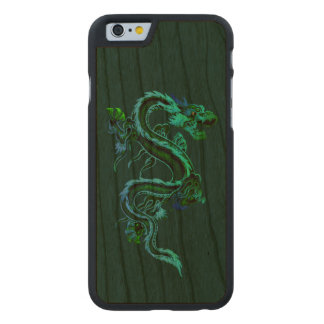 Green Dragon Wooden iPhone 6 Case Carved® Cherry iPhone 6 Slim Case
