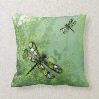 Green Dragonflies American MoJo Pillow Throw Cushion