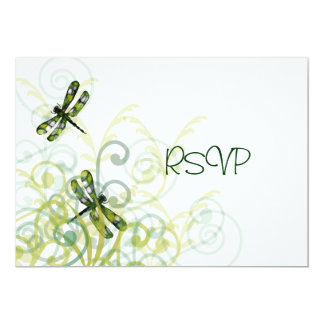 Green Dragonflies Reception RSVP Card