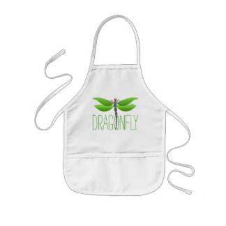 green dragonfly girly personalised kids apron