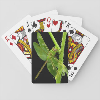 Green Dragonfly Playing Cards