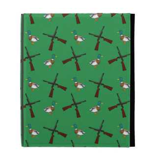Green duck hunting pattern iPad folio cover