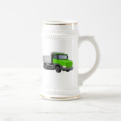 Green Dump Truck Coffee Mugs