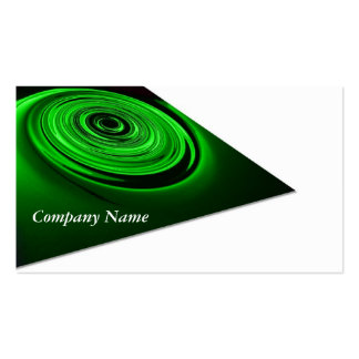 Green Dynamic Pack Of Standard Business Cards